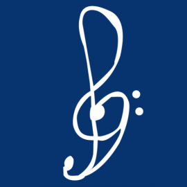 the logo of Ryan Noakes Composer, a blended treble and bass cleff