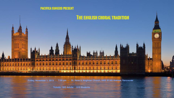 The English Choral Tradition concert banner image