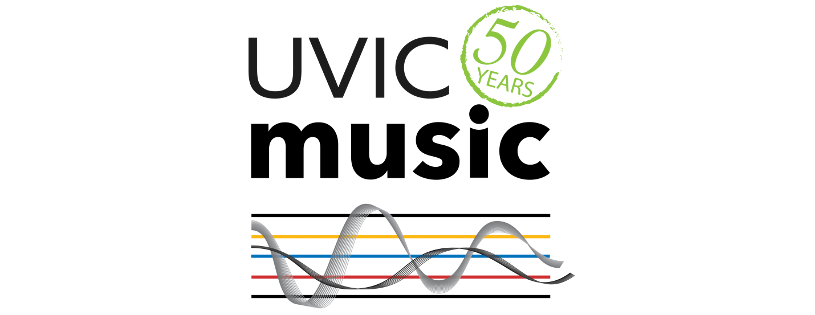 University of Victoria School of Music 50 years logo
