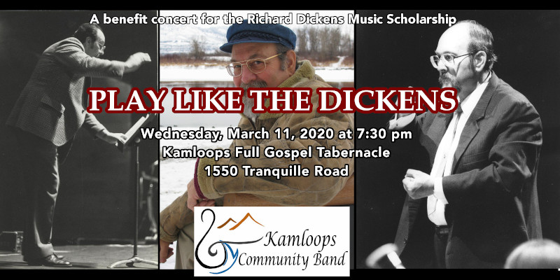 "kamloops community band presents ""play like the dickens"" march 11, 2020"